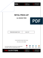 All Season Tire Price Booklet - Toronto Tire Outfitters (905) 947-1111 [Jan 9, 2012]