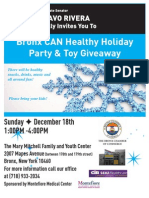 Bronx CAN Healthy Holiday Party & Toy Giveaway