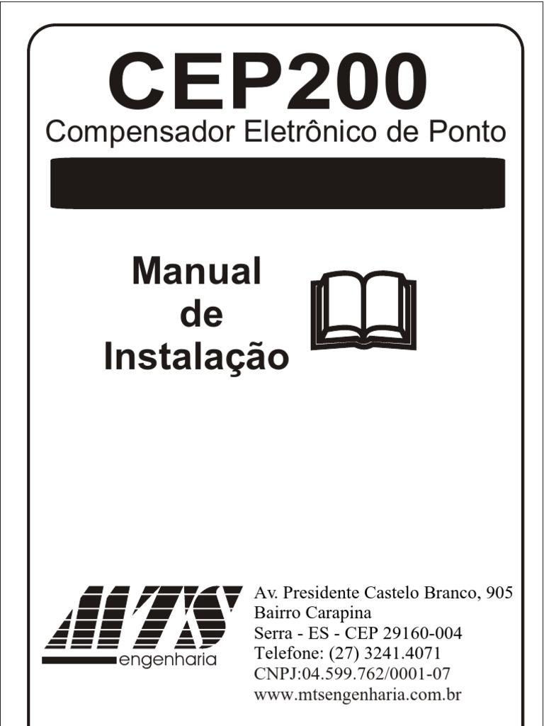 Manual de Instalação: Compensador Eletrônico de Ponto