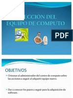 SELECCIÓN DEL EQUIPO DE COMPUTO