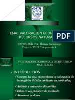 Valoracion Economica de Recursos Naturales