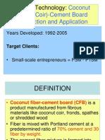 Penamora Coconut Fibre Cement Boards