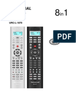URC-L-1870 Remote Control Codes