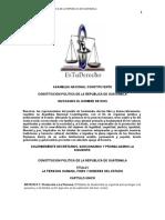 Constitución Politica de la República de Guatema