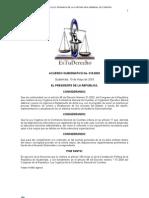 Reglamento de la Ley organica de la Contraloria General de Cuentas
