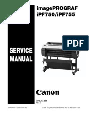 iPF750 iPF755Service Manual | Printer (Computing) | Paper