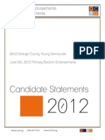 Primary Election Endorsements Candidate Statements