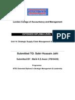 U-14 Strategic Supply Chain Management and Logistics