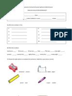 English Evaluation Worksheet
