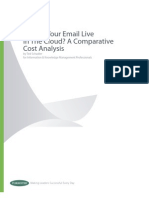 Forrester Cloud Email Cost Analysis
