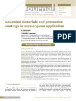 Advanced Materials and Protective Coating in Aeroengines Application