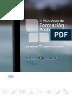 III Plan Vasco de Formacion Profesional