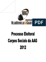 Dossier Processo Eleitoral AAG`12