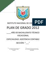 PLAN DE GRADO SEGÚN REQUERIMIENTOS DE LIC. CARDOZA
