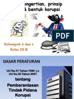 Pengertian Prinsip & Bentuk Korupsi