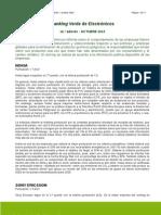 Ranking Verde de Electrónicos 16 edición OCTUBRE 2010