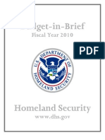 #HomelandSecurity Budget as of 2010