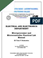 Micro Controller Lab Manual