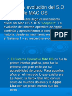 HItoria y Evolucion de MAC OS