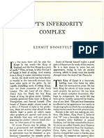 Egypt's Inferiority Complex, By Kermit Roosevelt