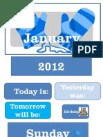 January Calendar Time