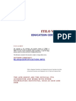 About ITIL Education Certification Path