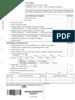 Preoperative nursing checklist
