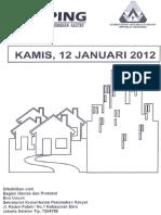 Scan Kliping Berita Perumahan Rakyat 12 Januari 2012