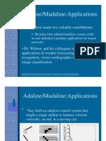 Adaline/Madaline:Applications