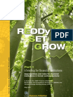 REDDy, Set, Grow - Opportunities and roles for financial institutions in forest carbon markets