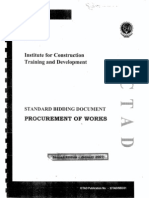 ICTAD Procurement of Work ICTAD SBD 01-2007