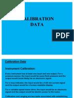 Instrument Calibration DATA