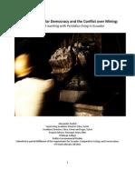 Mining and Democracy in Intag, Ecuador