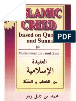 Islamic Creed Based on Quran and Sunnah by Muhammad bin Jamil Zeeno-63p