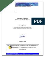 3Oct2009 FileStore Solution Brief 4 Healthcare