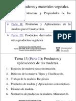 Tema 13 II Productos de Madera