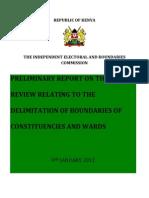 Preliminary Report 9th Jan 2012