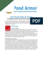 101 Pond Tips and Tricks (Pond Armor)