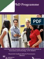 Joint PhD Programme UNU-MERIT and MGSoG
