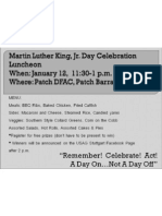 Martin Luther King, Jr. Day Celebration Luncheon