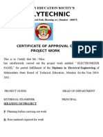 Project Report on Electromizer Panel (1)