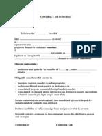 Contract de Comodat Contract Comodat
