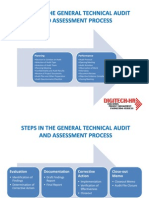 Steps in the General Technical Audit and Assessment