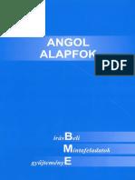 Angol Alapfok - Írásbeli Mintafeladatok Gyűjteménye