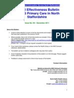 Clinical Effectiveness Bulletin no. 59 December 2011