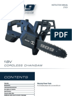 909 18V Lithium-Ion Pruning Chainsaw LTHCH Instruction Manual