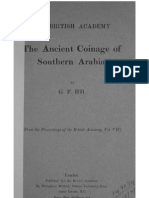 The ancient coinage of Southern Arabia / by G. F. Hill