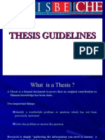 Thesis Guidelines