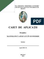Caiet de Aplicatii - a Aplicata in Economie Zi