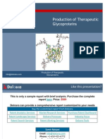 Production of Therapeutic Glycoproteins - Key Players, Innovators and Industry Analysis